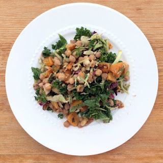 Easy Kale Chickpea Salad With Roasted Butternut Squash