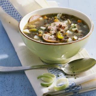 Lentil and Mortadella Soup.