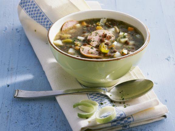 Lentil and Mortadella Soup Recipe