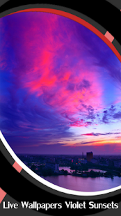 Live Wallpapers Violet Sunsets - náhled