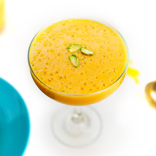 3 Ingredient Vegan Mango Cardamom Breakfast Smoothie.