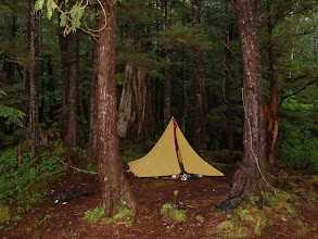 Photo: June 28 - My campsite in a cove just south of Cone Point after a night of heavy rain.