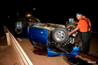 Photo: nasty crash, minimal injuries, the driver walked away...