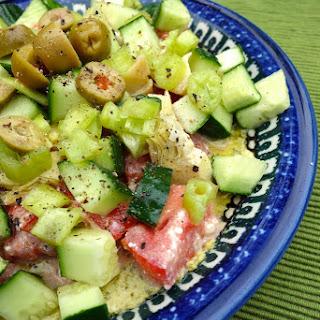 Fattoush Dip with Kale Hummus