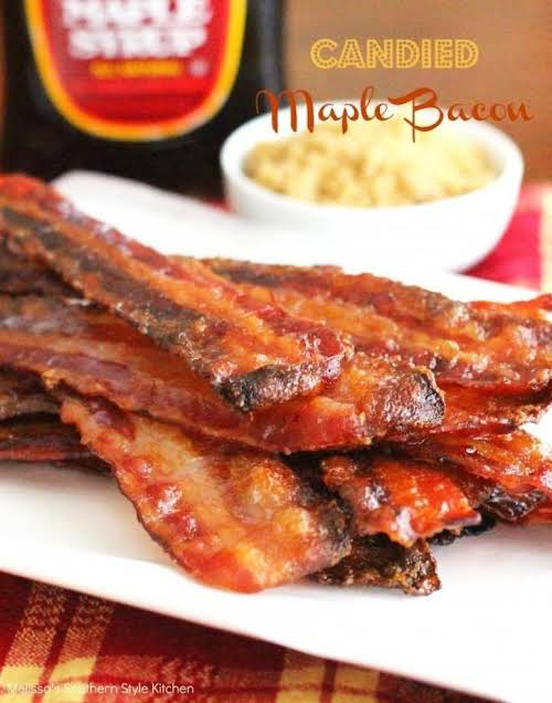 """Candied Maple Bacon """"When the words 'candied' and bacon occur together in..."""