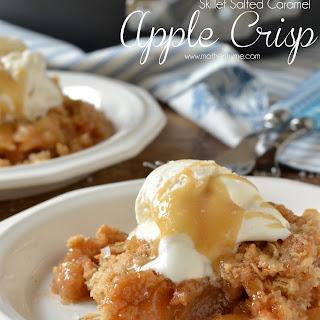 Skillet Salted Caramel Apple Crisp