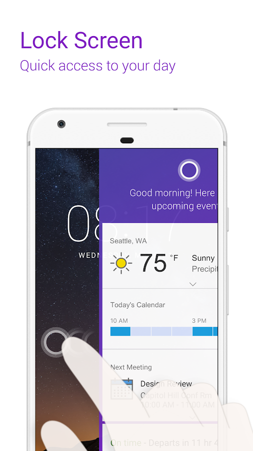 Cortana – Digital assistant- screenshot