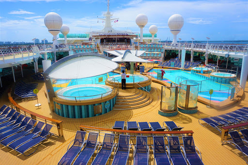 Head to the pool deck on Mariner of the Seas for some fun in the sun.