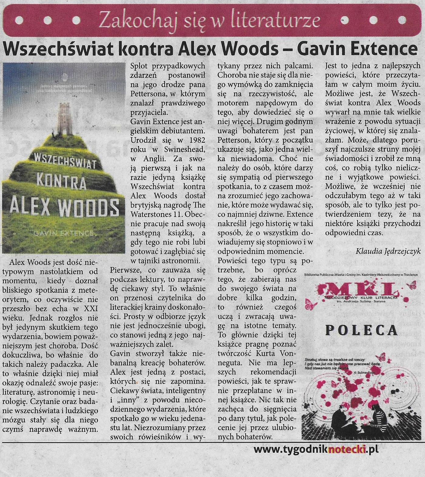 Photo: http://szeptksiazek.blogspot.com/2014/06/wszechswiat-kontra-alex-woods-gavin.html