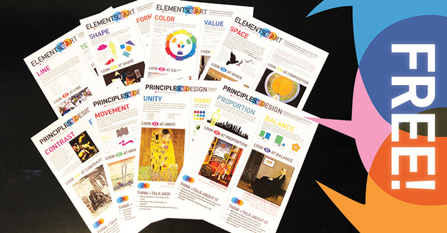 Get the Elements and Principles Printable Pack!