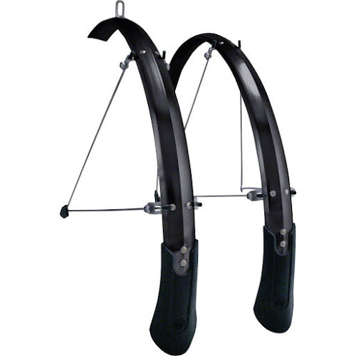 "Planet Bike Cascadia ALX 20"" x 50 Fender Set: Black (20 x 1.0-1.5)"
