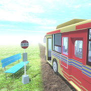 Road with escape game bus stop