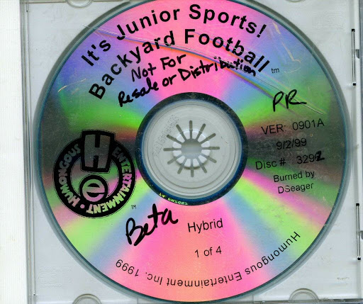 Video game:It's Junior Sports Backyard Football (Hybrid)