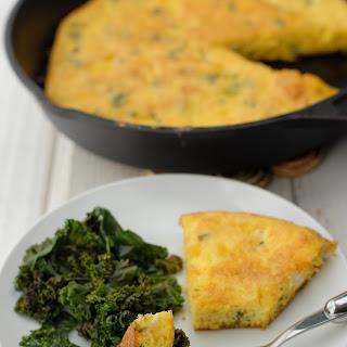 Duck Eggs, Frittata and Garlic Kale.