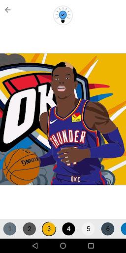 Coloring Basketball screenshot 2