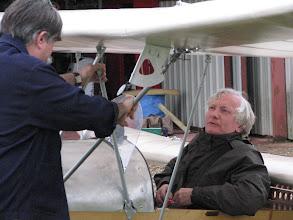 Photo: Débriefing de Bernard avec Philippe