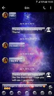 GlassGalaxy SMS Zprávy - náhled