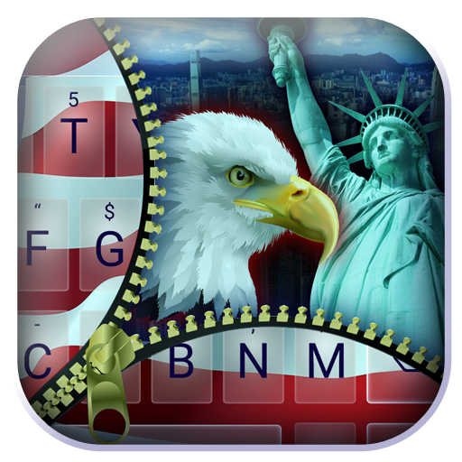 Zipper  American Flag Theme&Emoji Keyboard