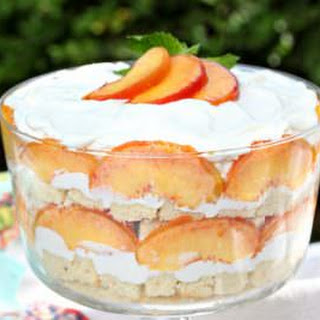 Peaches and Cream Trifle.