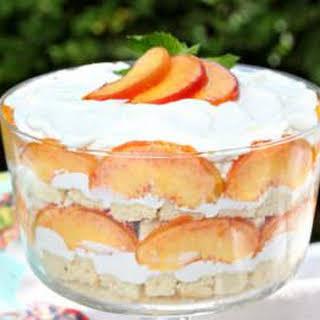 Peaches and Cream Trifle.