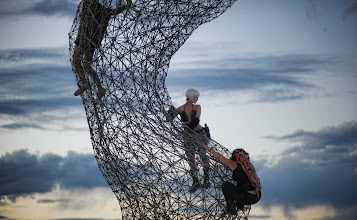 Photo: Climbing the Torso  This is the same part of one of my favorite statues at Burning Man -- the same one from the night photo at https://plus.google.com/105237212888595777019/posts/4N75p1VrP57  This was taken with an 85mm prime just after the sun went down...  #SICInDatabase