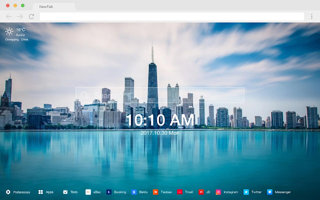 Chicago New Tab Page HD Popular Cities Themes