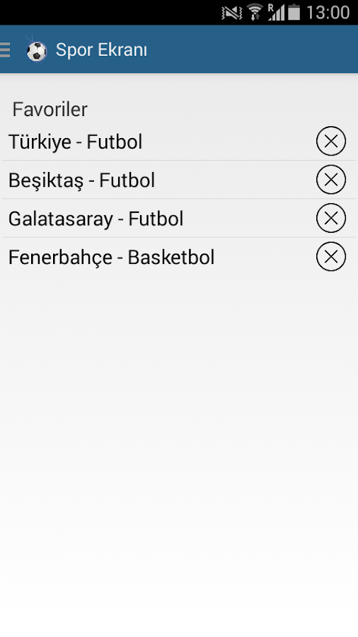 Spor Ekranı- screenshot