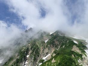 五龍岳は雲