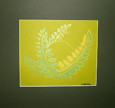 Photo: 022 MAGICAL FERN FLOWER oil-based ink matted original $75 SOLD/ПРОДАНА