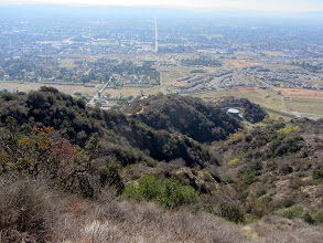 Photo: View south from the upper reaches of Garcia Trail, looking straight down the boundary between Glendora (left) and Azusa.  This shot capture a sense of the rich chaparral blanketing our hillsides. It will soon be gone.