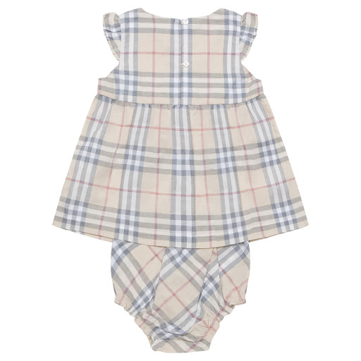 Thumbnail images of Burberry Baby Dress Set