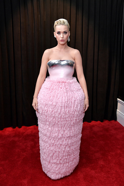 Katy Perry on the red carpet at the 2019 Grammy Awards.