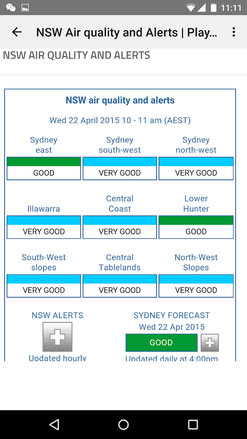 Sydney & NSW Alert- screenshot