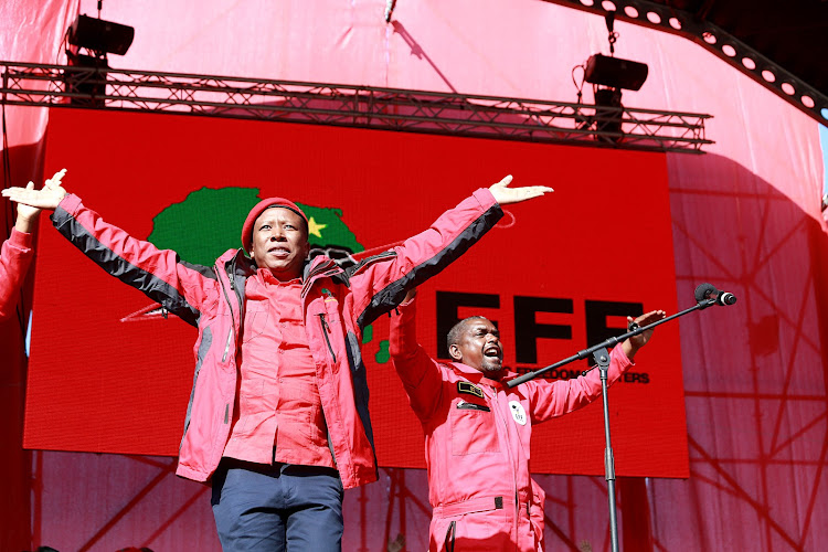 EFF leader Julius Malema and EFF secretary general Godrich Gardee. File photo.