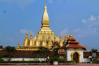 Photo: Pha That Luang, or Great Scared Stupa. Most iconic structure for Vientiane and Laos