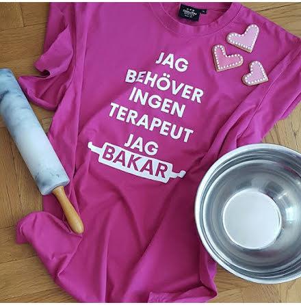 T-shirt - Jag bakar, rosa