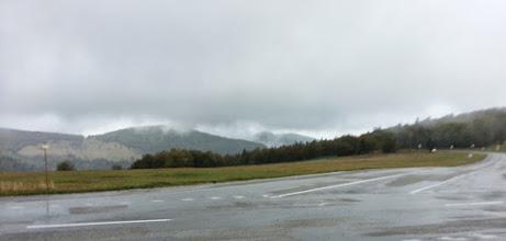 Photo: Vue depuis le Markstein. Si la photo est floue, c'est la faute du vent... impossible de rester immobile!