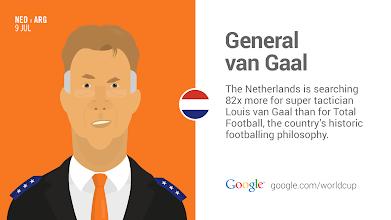 Photo: Meet Louis van Gaal, head coach for the Netherlands and football mastermind.  #GoogleTrends  http://goo.gl/Fxad0A