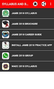 JAMB SYLLABUS & BROCHURE 2018 - náhled