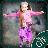 Animated Rain on Photo:Gif