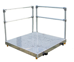 "Photo: Platforms are available 48""x48"" or 60""x60"""