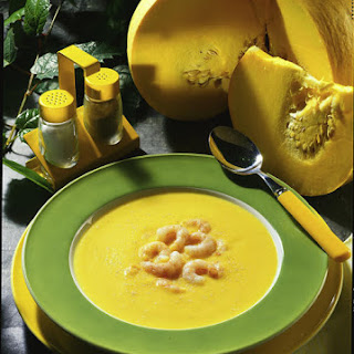Squash Soup with Shrimp