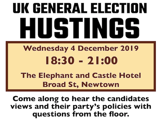 Hustings to be staged in Newtown