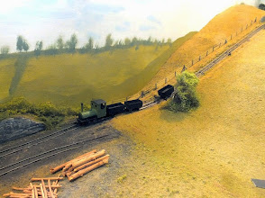 Photo: 022 The low level mines loco marshals a train of empty tubs as they are winched down the incline one by one .