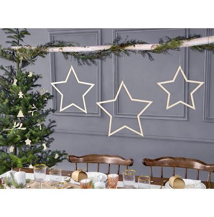 Dekorationsstjärnor i trä