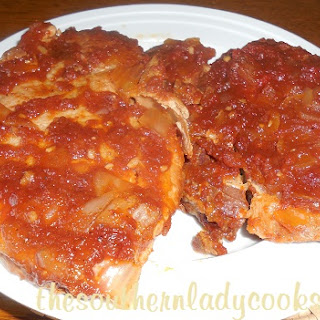 CROCK POT COCA COLA PORK CHOPS.