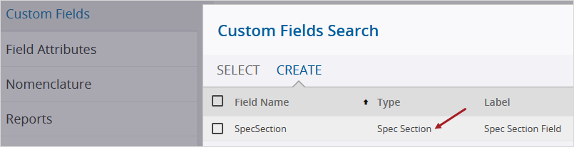 New Custom Field Type - Spec Section