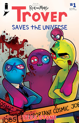 INTERVIEW + PREVIEW: Justin Roiland & Tess Stone on TROVER SAVES THE UNIVERSE #1