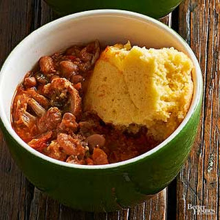 Pork Rib Chili with Corn Bread.