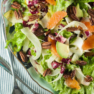 Cara Cara Orange and Avocado Salad with Mixed Chicories Recipe